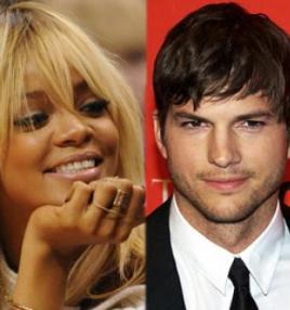 Rihanna. Podría estar con Ashton Kutcher