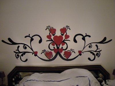 deco tete de lit blog de peintre76620. Black Bedroom Furniture Sets. Home Design Ideas