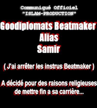 SAMIR ALIAS Goodiplomats Prod C'est Fini !!!!