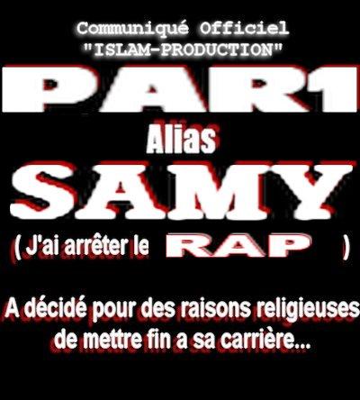 SAMY  ARRETE LA RAP