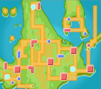 Voici la carte de la région de sinnoh !