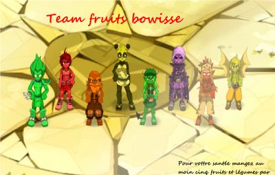 """Présentation de la team """"fruits"""" du serveur bowisse"""