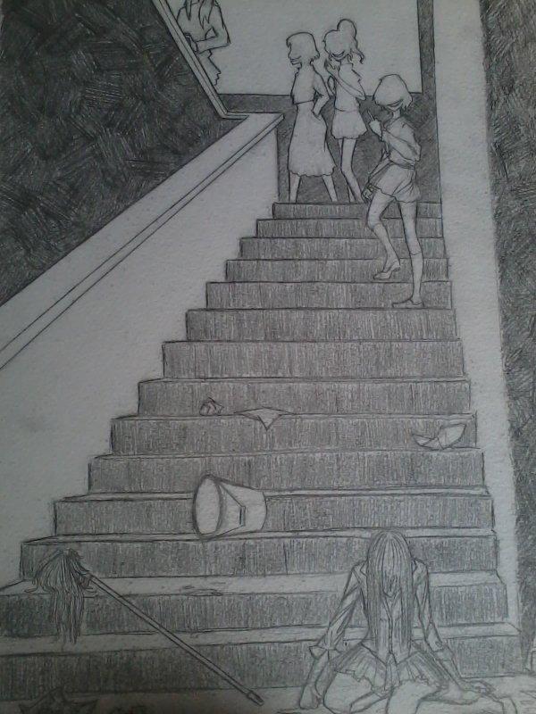 Dessin 2: Inspirée du manga(Drama) Life !