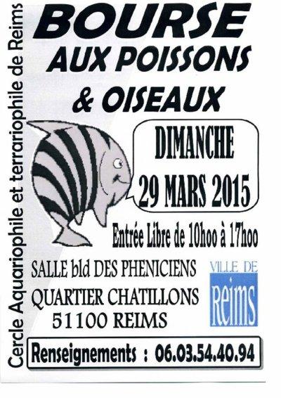 BOURSE aux POISSONS 29 MARS 2015