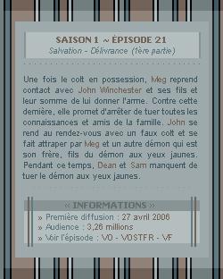 ♣ HuntersWinchester''~ Saison 01 - Épisode 21''. . . . . . . . . . . . . . . . . . . . . . . . . . . .''Création | Décoration | Newsletter