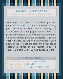 ♣ HuntersWinchester''~ Saison 01 - Épisode 22''. . . . . . . . . . . . . . . . . . . . . . . . . . . .''Création | Décoration | Newsletter