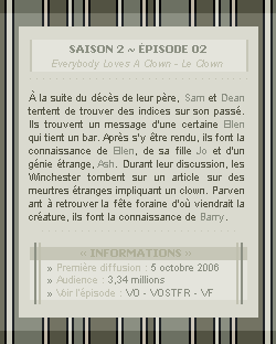 ♣ HuntersWinchester''~ Saison 02 - Épisode 02''. . . . . . . . . . . . . . . . . . . . . . . . . . . .''Création | Décoration | Newsletter