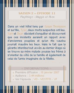 ♣ HuntersWinchester''~ Saison 02 - Épisode 11''. . . . . . . . . . . . . . . . . . . . . . . . . . . .''Création | Décoration | Newsletter