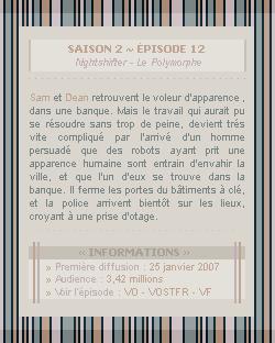 ♣ HuntersWinchester''~ Saison 02 - Épisode 12''. . . . . . . . . . . . . . . . . . . . . . . . . . . .''Création | Décoration | Newsletter