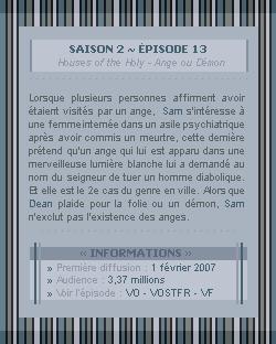 ♣ HuntersWinchester''~ Saison 02 - Épisode 13''. . . . . . . . . . . . . . . . . . . . . . . . . . . .''Création | Décoration | Newsletter