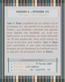 ♣ HuntersWinchester''~ Saison 02 - Épisode 15''. . . . . . . . . . . . . . . . . . . . . . . . . . . .''Création | Décoration | Newsletter