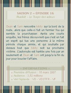 ♣ HuntersWinchester''~ Saison 02 - Épisode 16''. . . . . . . . . . . . . . . . . . . . . . . . . . . .''Création | Décoration | Newsletter