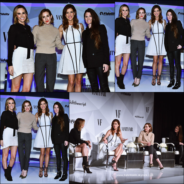 -   03/12/2014 : Kate assistant au Vanity Fair and Fidelity: Empowering Conversations à Los Angeles.  -