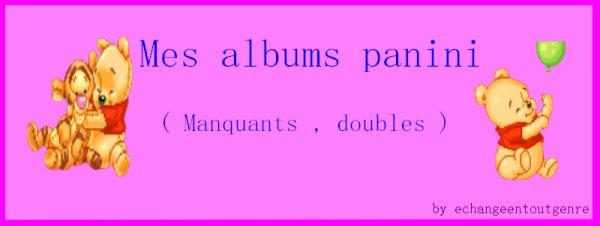 Mes Albums Panini