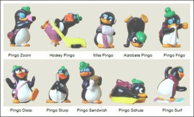 Les petits pingos(figurines Kinder Surprise)