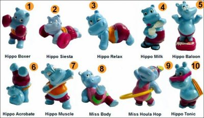 La bande des Hippos ( Exclusivité Kinder Surprise) figurines