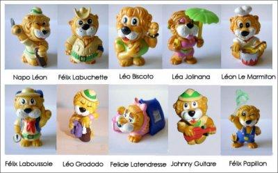 Les Léoventuras (figurines Kinder Surprise)