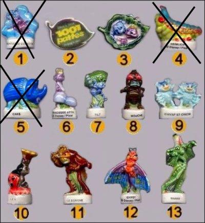 1001 Pattes - Disney - Fèves 2002