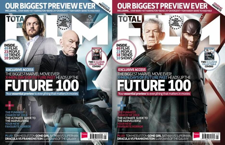 Professeur X Vs. Magnéto! X-MEN: DAYS OF FUTURE PAST En Couverture(s) De Total Film