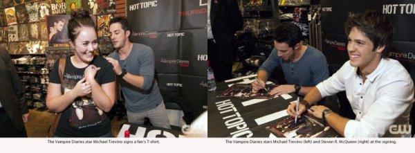 Hot Topic – Michael Trevino & Steven R.McQueen à Chicago !