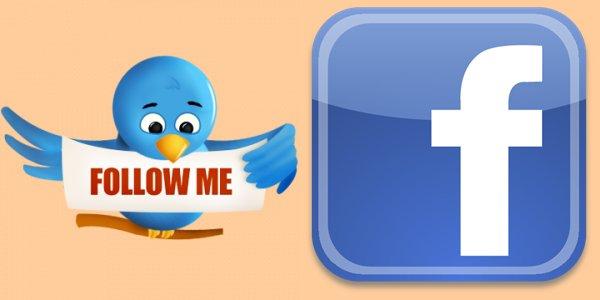 Me suivre sur Twitter et Facebook