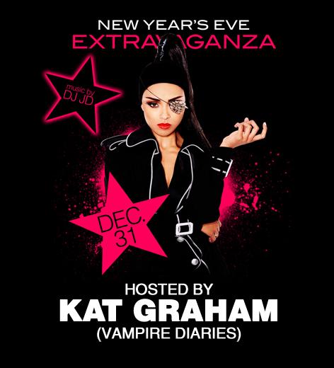 Kat Graham était l'hôtesse de la grande soirée du Nouvel An au MGM Grand.