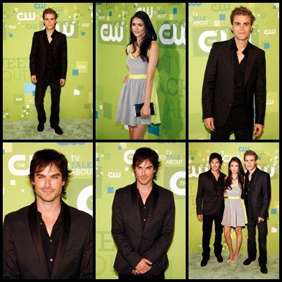 Nina, Paul & Ian aux CW Upfront 2011 !