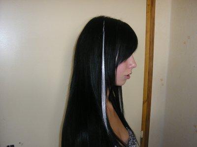 extensions 40 cm ( 58 noires + 2 blanches)
