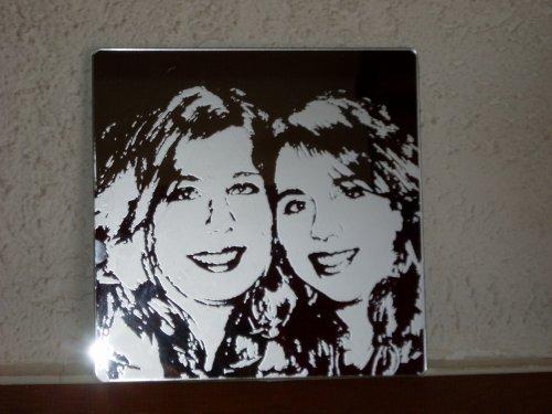 Gravure d polie sur miroir nathie cr ation for Gravure sur miroir