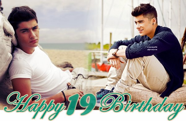 Happy 19th Birthday Zayn Malik. ♥
