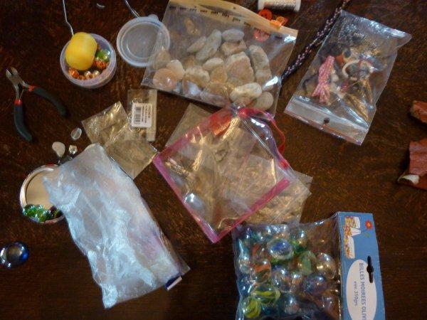 Mes pierres, billes, breloques etc...