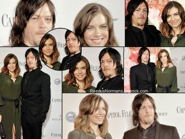 24.04.15 - Norman et sa co-star de The Walking Dead, Lauren Cohan, étaient présents a l'événements Capitol File's WHCD Weekend Welcome Reception, a Washington DC.