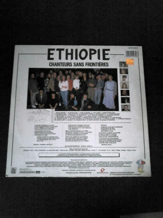 Chanteur Sans Frontières Ethiopie 1985 Maxi 45 tours