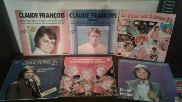 Ma collection de vinyles 45 tours et 33 tours de Claude François