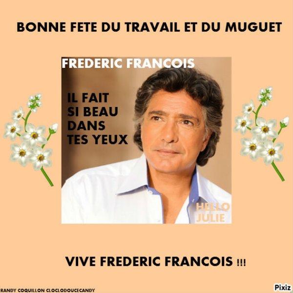 Montage spéciale Frédéric François et Michel Berger façon pochette de 45 tours