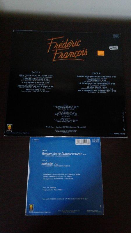 Frédéric François Mon c½ur te dit je t'aime 1984 33 tours, L'amour s'en va, L'amour revient 1988 45 tours