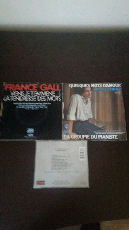 France Gall Viens je t'emmène 45 tours 1978, France Gall Les plus belles chansons cd 1981, Michel Berger La groupie du pianiste 45 tours 1980