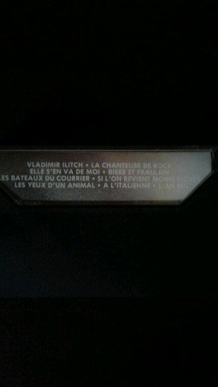 Michel Sardou Vladimir Ilitch 1983 K7