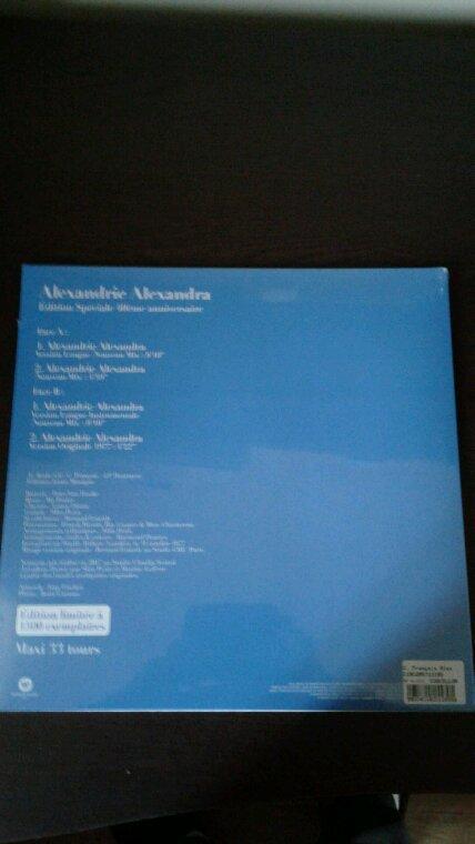 Mon nouveau cd et vinyle de Claude François