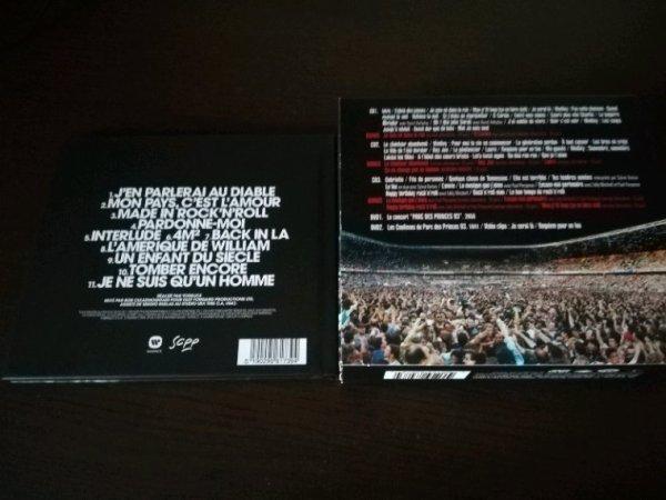 Johnny Hallyday Mon Pays C'Est L'Amour son nouvel album et Coffret CD DVD Parc Des Princes 1993 réédition 2018