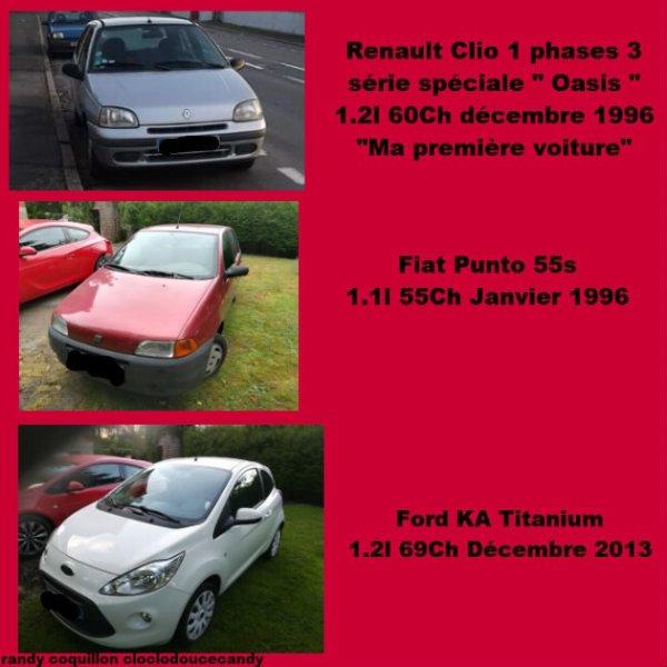 Mes Voitures D'avant et celle que je possède Ma Ford Ka de 2013
