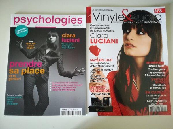 """Clara Luciani Couverture de Magazine """"Psychologies"""" et """"Vinyle&Audio"""""""