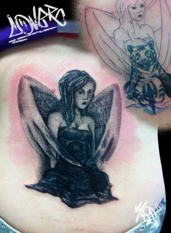 Recouvrage de l'ancien tatouage !