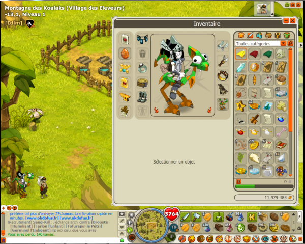enfin j'ai battu les 3 bandits de cania et voila les écailles <3