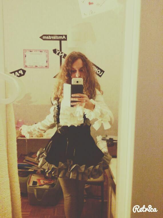 La robe 8D (oui j'ai laisser mon bas de pyj u-u (