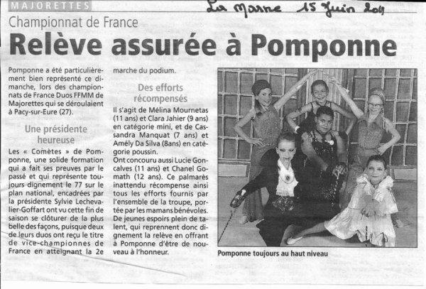 Article de presse du 15/06/2011 dans le Journal de la Marne