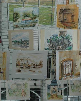 Oeuvres des artistes la Rueozarts à Bellefontaine dernier concours