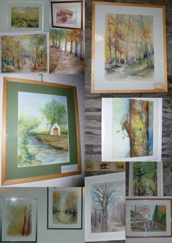 Vernissage exposition, à travers les arbres