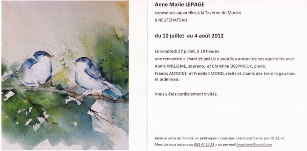 Exposition Anne-Marie LEPAGE