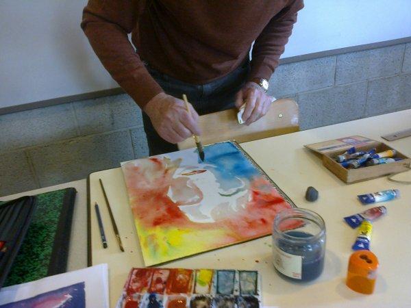 Nos essais le visage à l'aquarelle